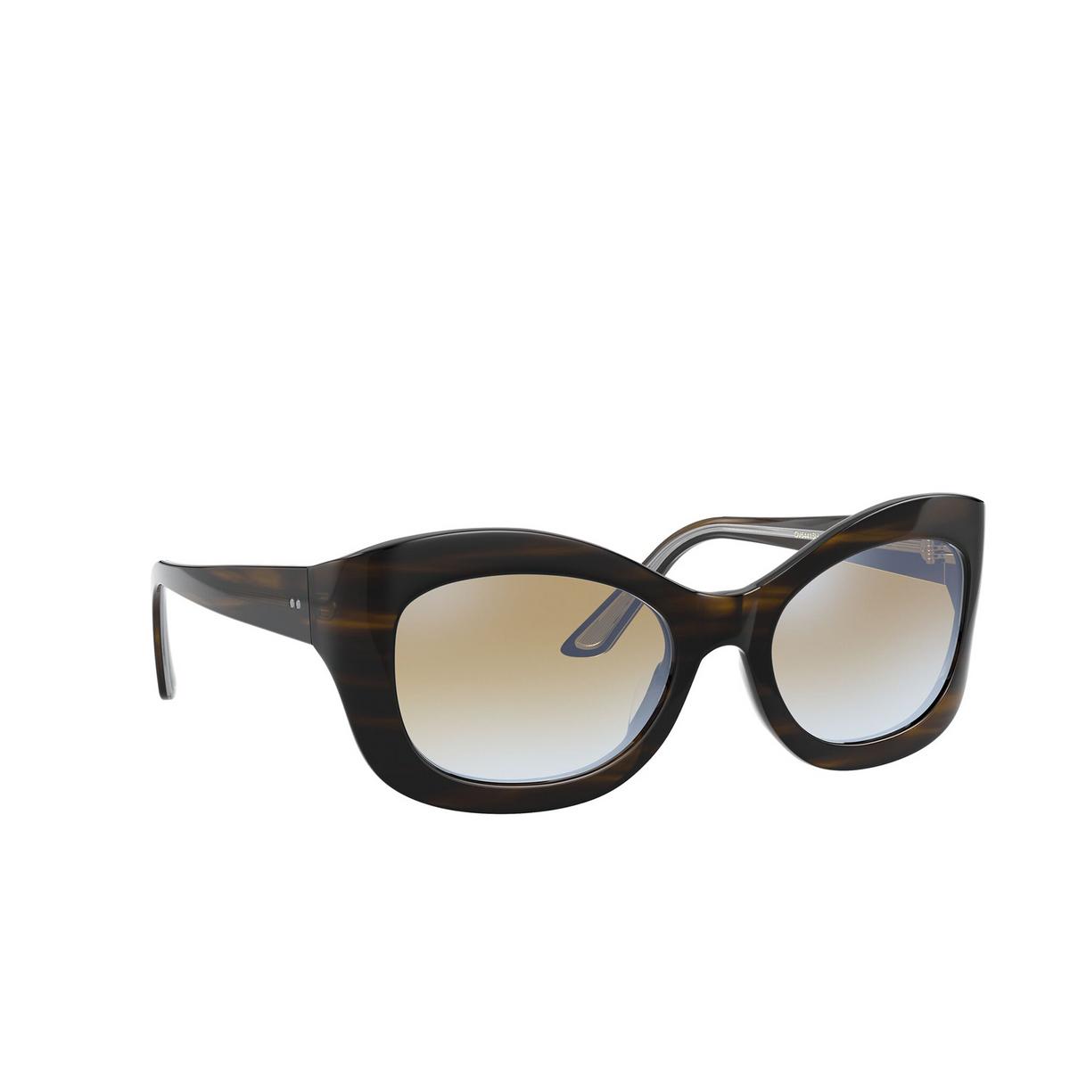 Oliver Peoples® Butterfly Sunglasses: Edina OV5441SU color Bark 1677K6 - three-quarters view.