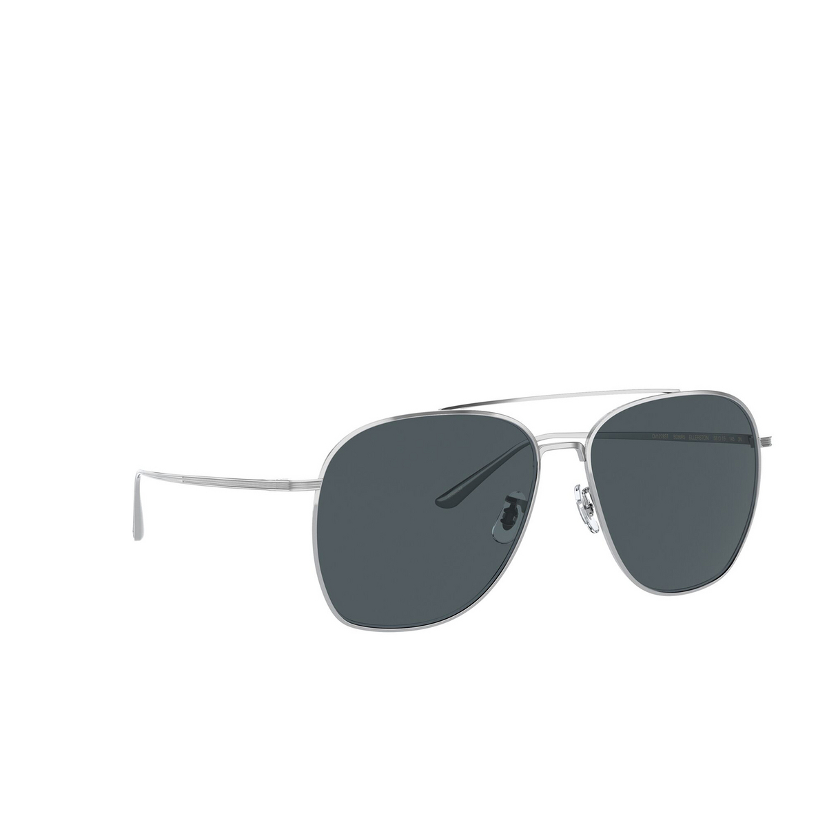 Oliver Peoples® Aviator Sunglasses: Ellerston OV1278ST color Silver 5036R5 - three-quarters view.
