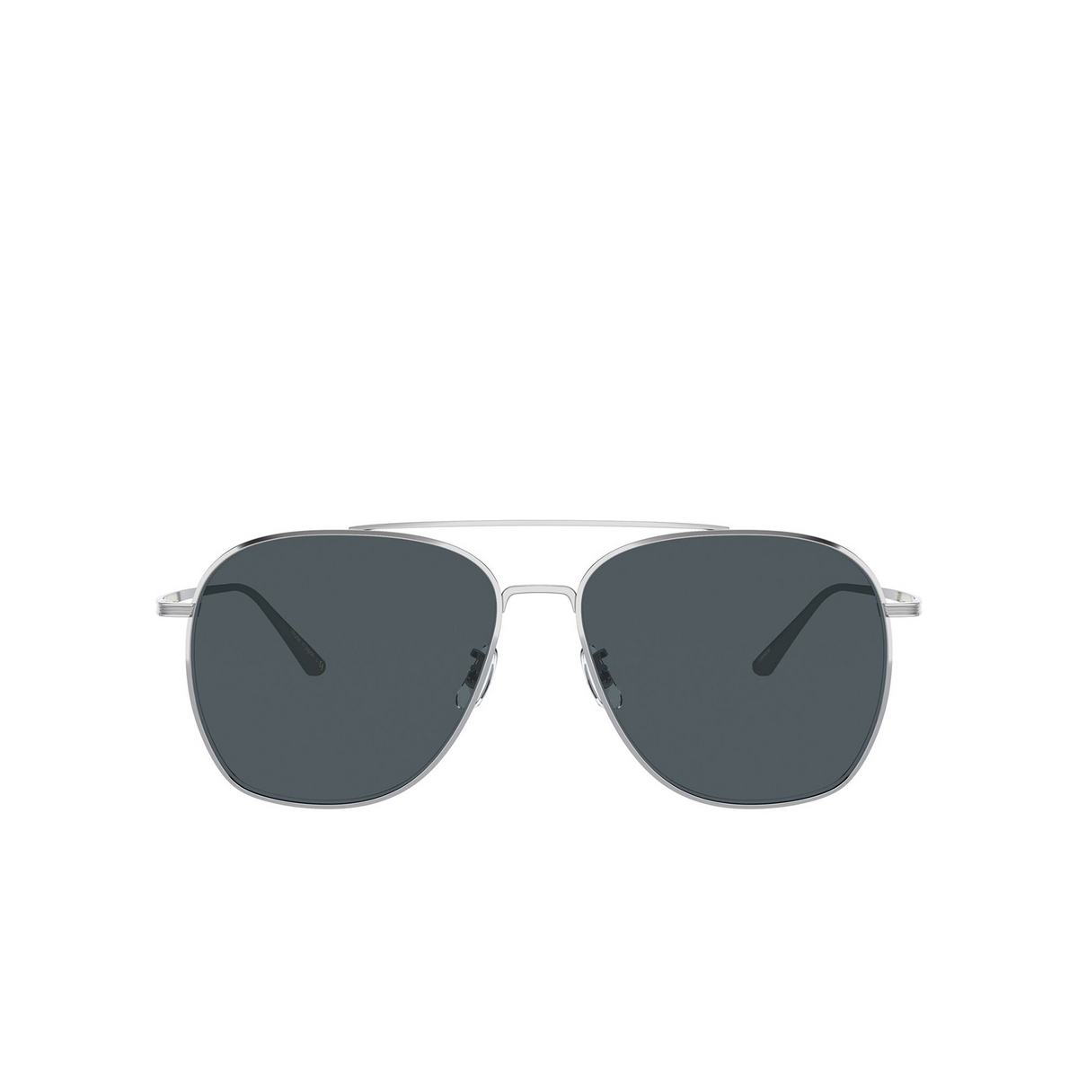 Oliver Peoples® Aviator Sunglasses: Ellerston OV1278ST color Silver 5036R5 - front view.