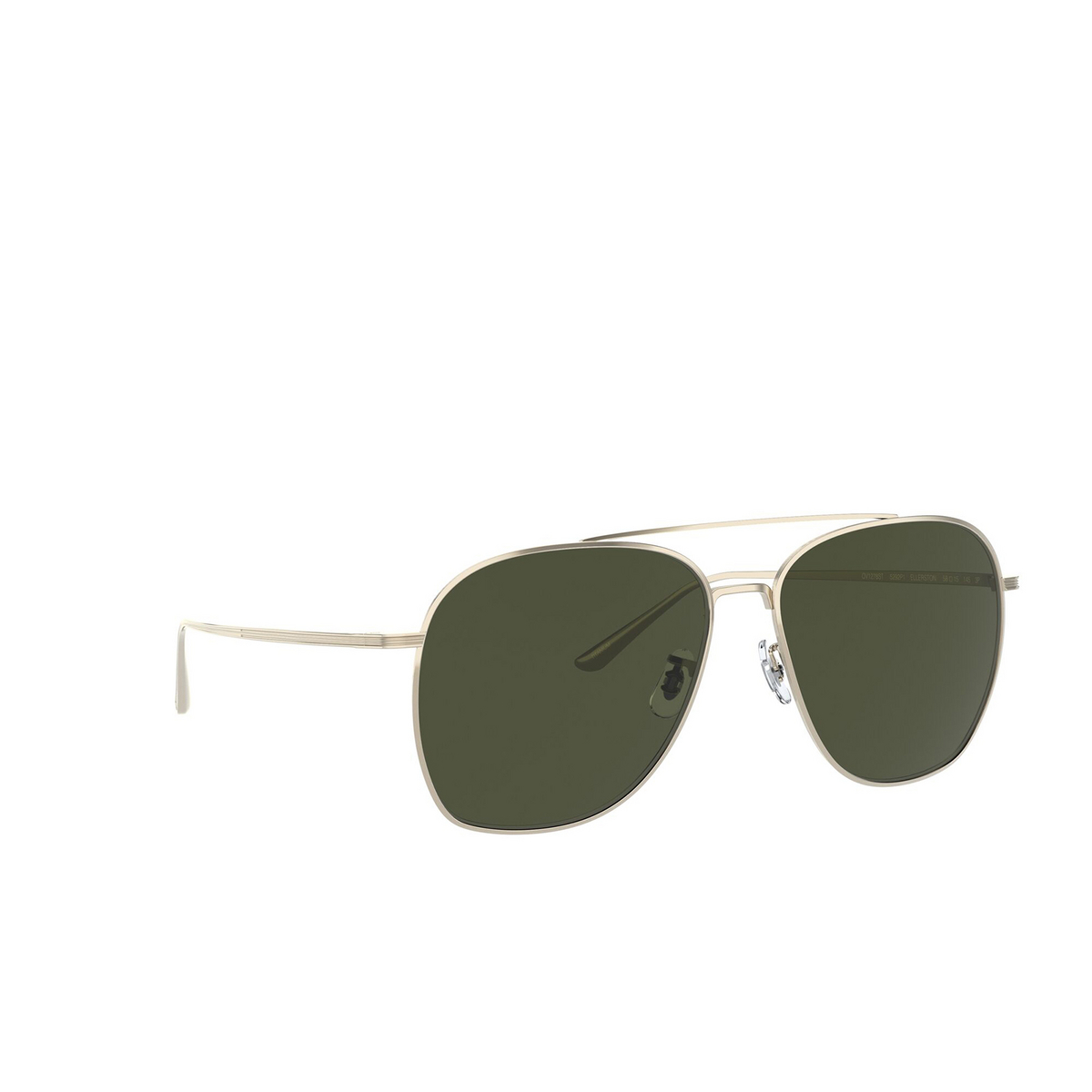 Oliver Peoples® Aviator Sunglasses: Ellerston OV1278ST color Gold 5292P1 - three-quarters view.