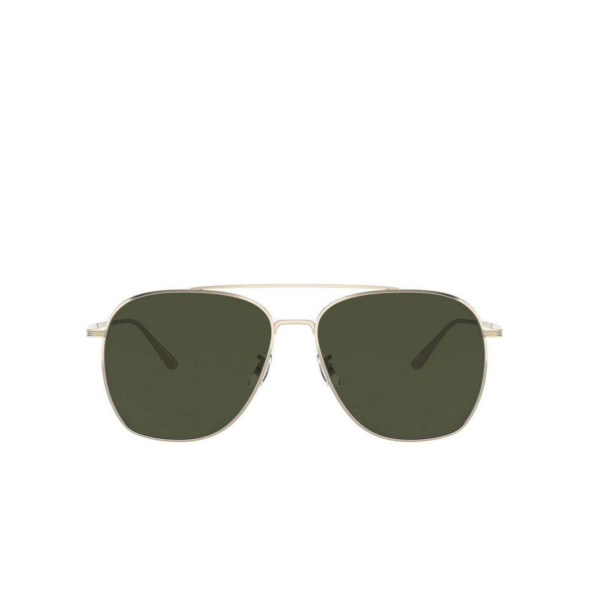 Oliver Peoples® Aviator Sunglasses: Ellerston OV1278ST color Gold 5292P1 - front view.