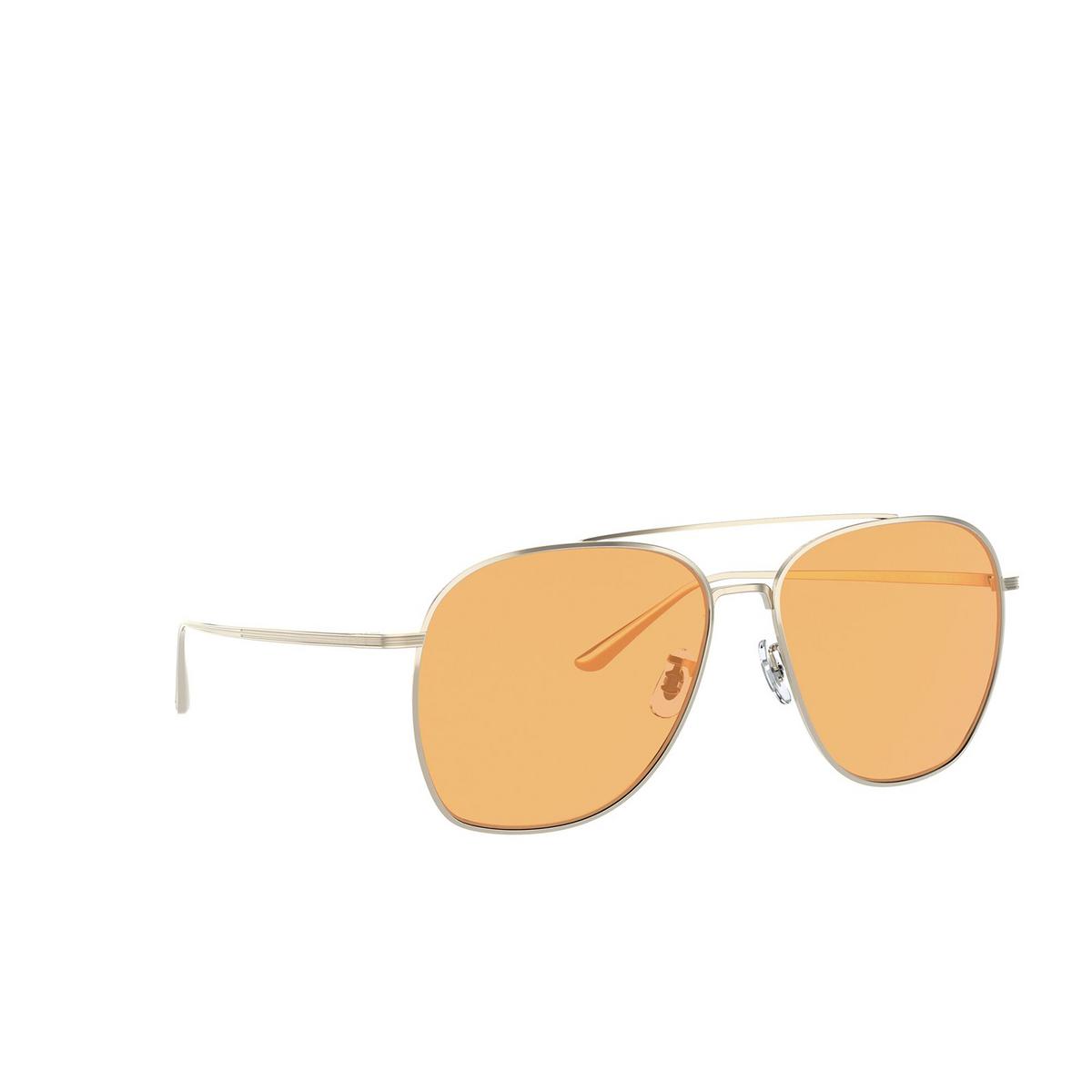 Oliver Peoples® Aviator Sunglasses: Ellerston OV1278ST color Gold 5292V9 - three-quarters view.