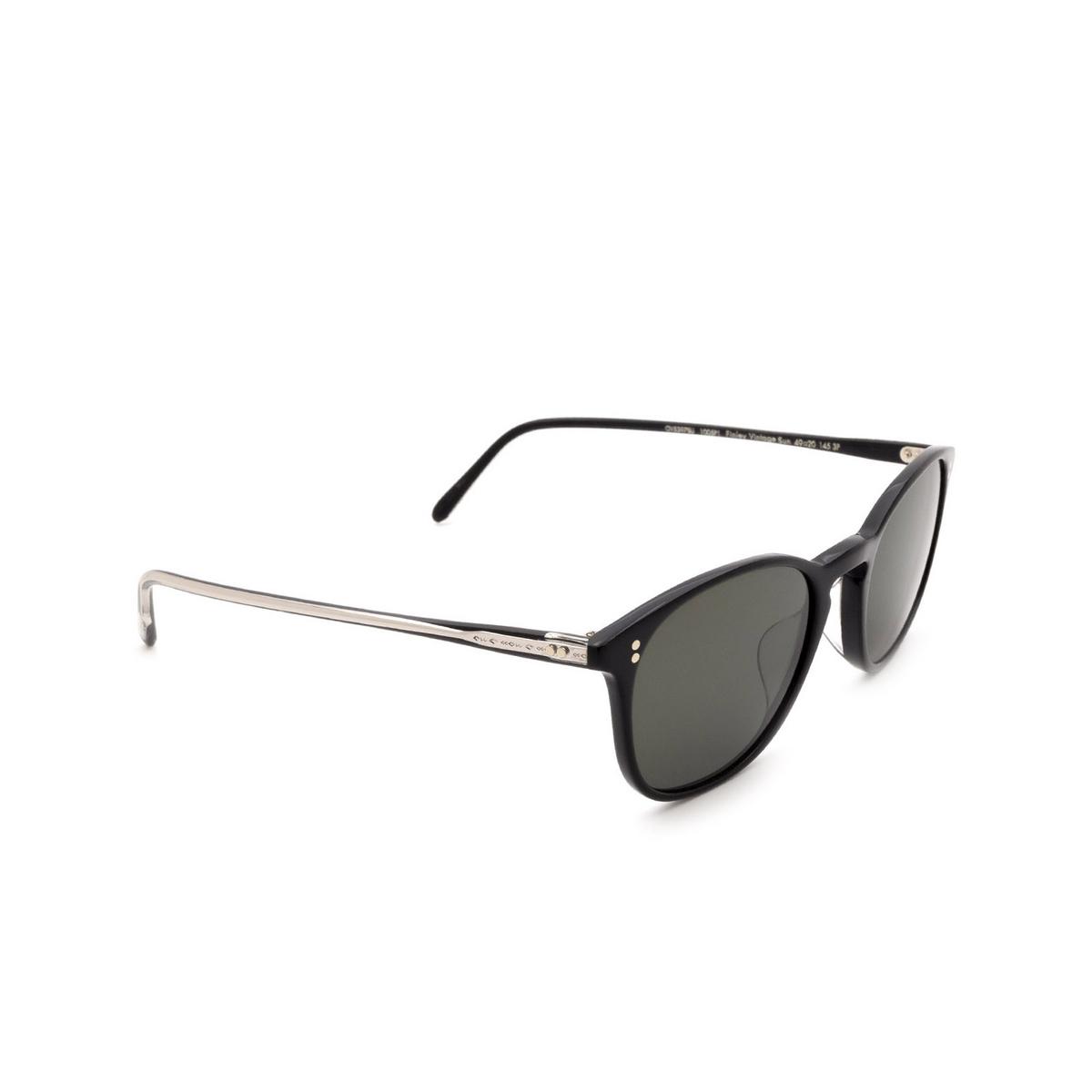 Oliver Peoples® Square Sunglasses: Finley Vintage Sun OV5397SU color Black 1005P1.