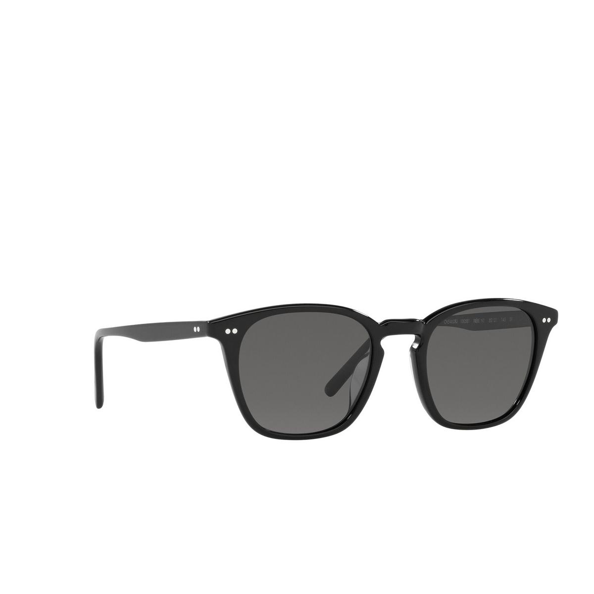 Oliver Peoples® Square Sunglasses: Frère Ny OV5462SU color Black 100581 - three-quarters view.