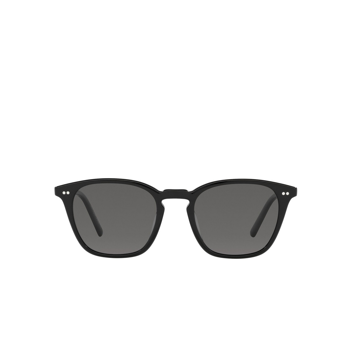 Oliver Peoples® Square Sunglasses: Frère Ny OV5462SU color Black 100581 - front view.