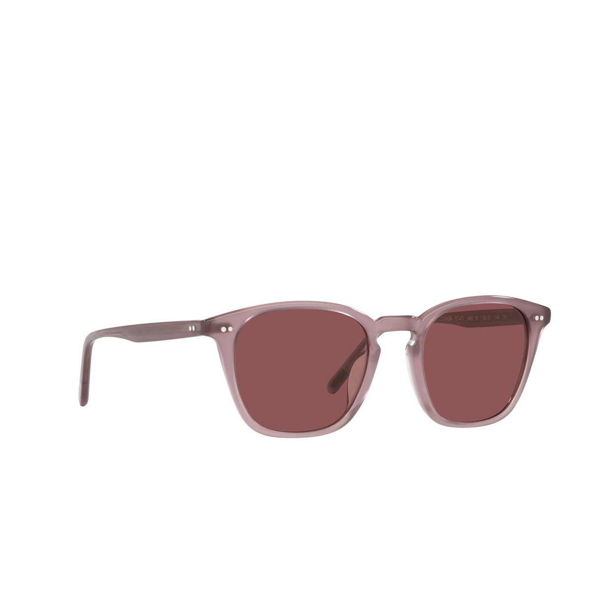 Oliver Peoples® Square Sunglasses: Frère Ny OV5462SU color Mauve 171475 - three-quarters view.
