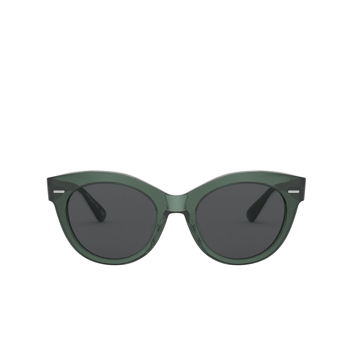 Oliver Peoples® Round Sunglasses: Georgica OV5421SU color Ivy 154787 - front view.