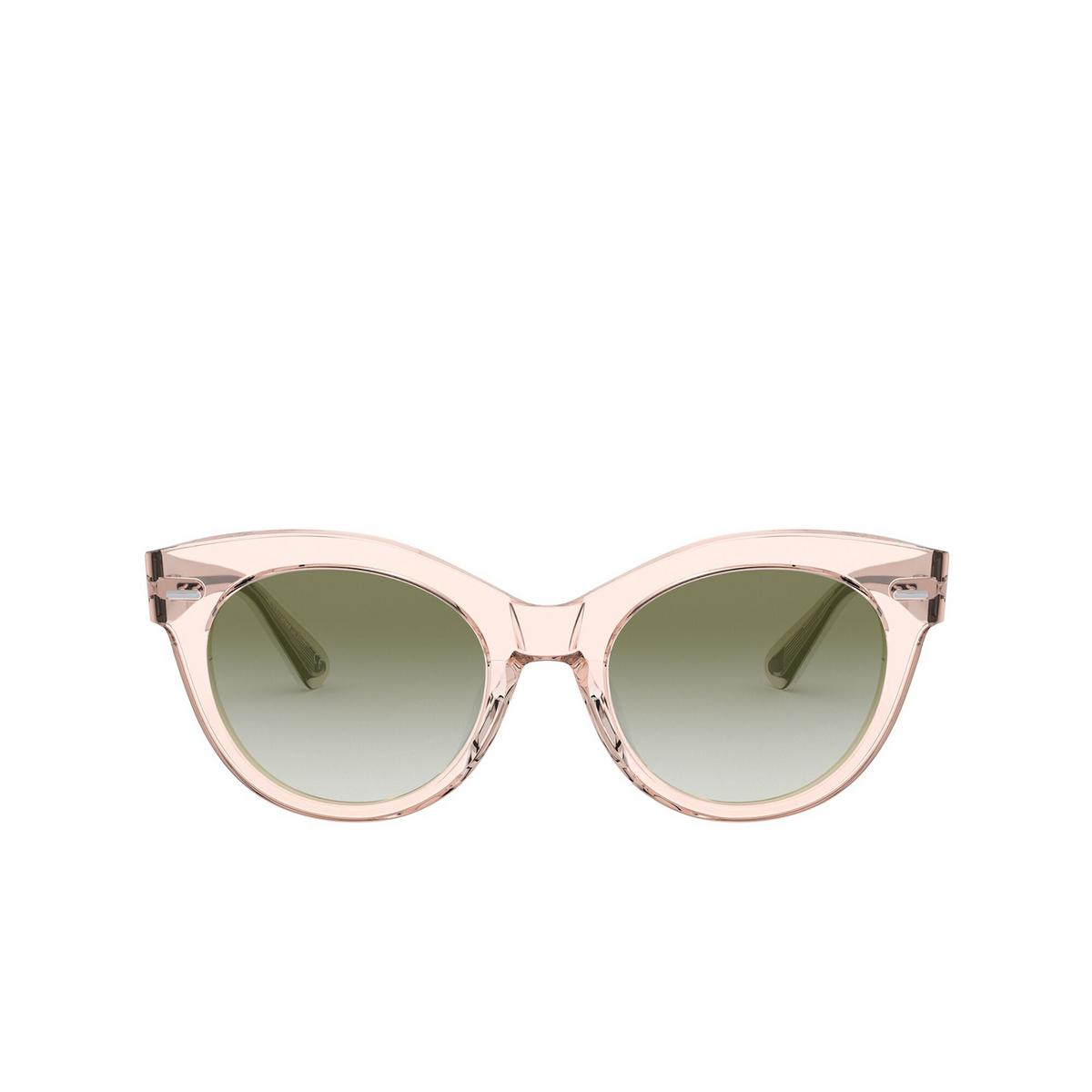 Oliver Peoples® Round Sunglasses: Georgica OV5421SU color Light Silk 16528E - front view.