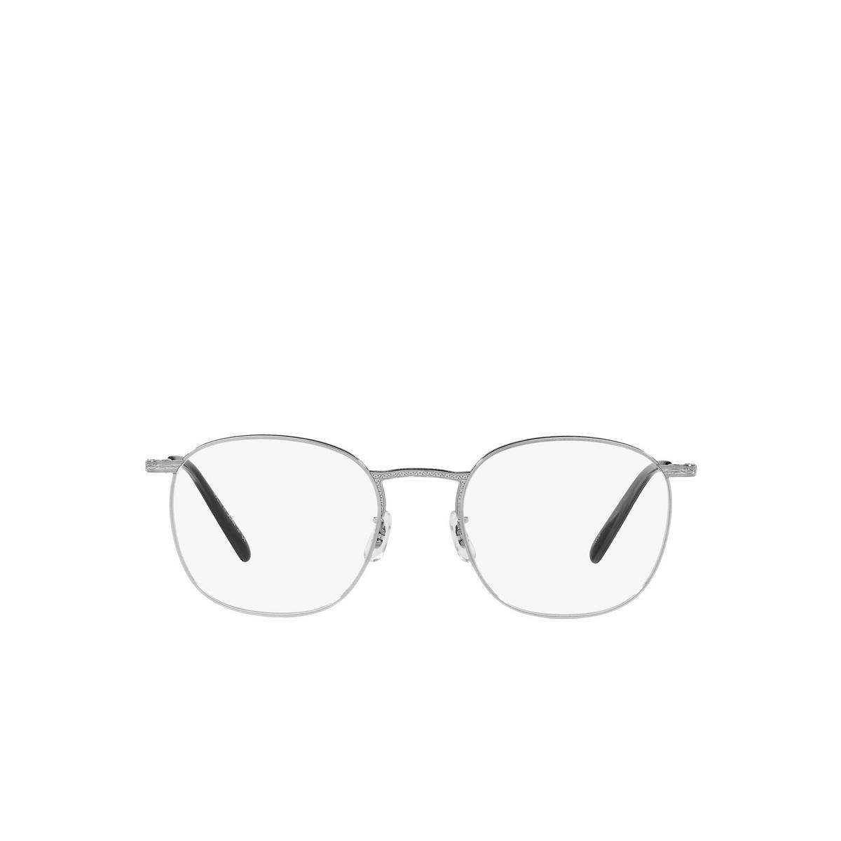 Oliver Peoples® Square Eyeglasses: Goldsen OV1285T color Silver 5036 - front view.