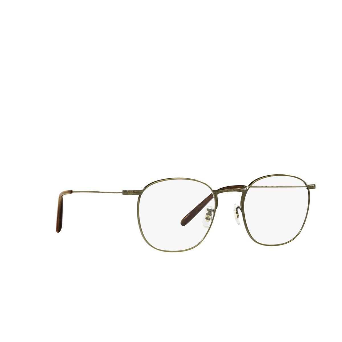 Oliver Peoples® Square Eyeglasses: Goldsen OV1285T color Antique Gold 5284 - three-quarters view.