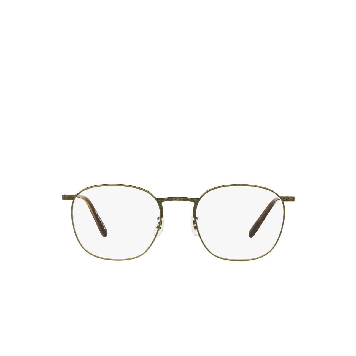 Oliver Peoples® Square Eyeglasses: Goldsen OV1285T color Antique Gold 5284 - front view.