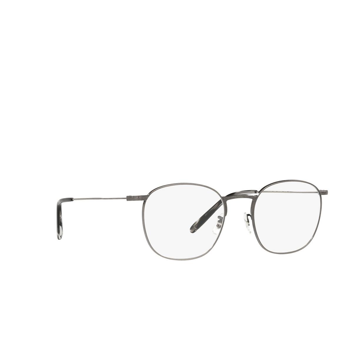 Oliver Peoples® Square Eyeglasses: Goldsen OV1285T color Antique Pewter 5289 - three-quarters view.