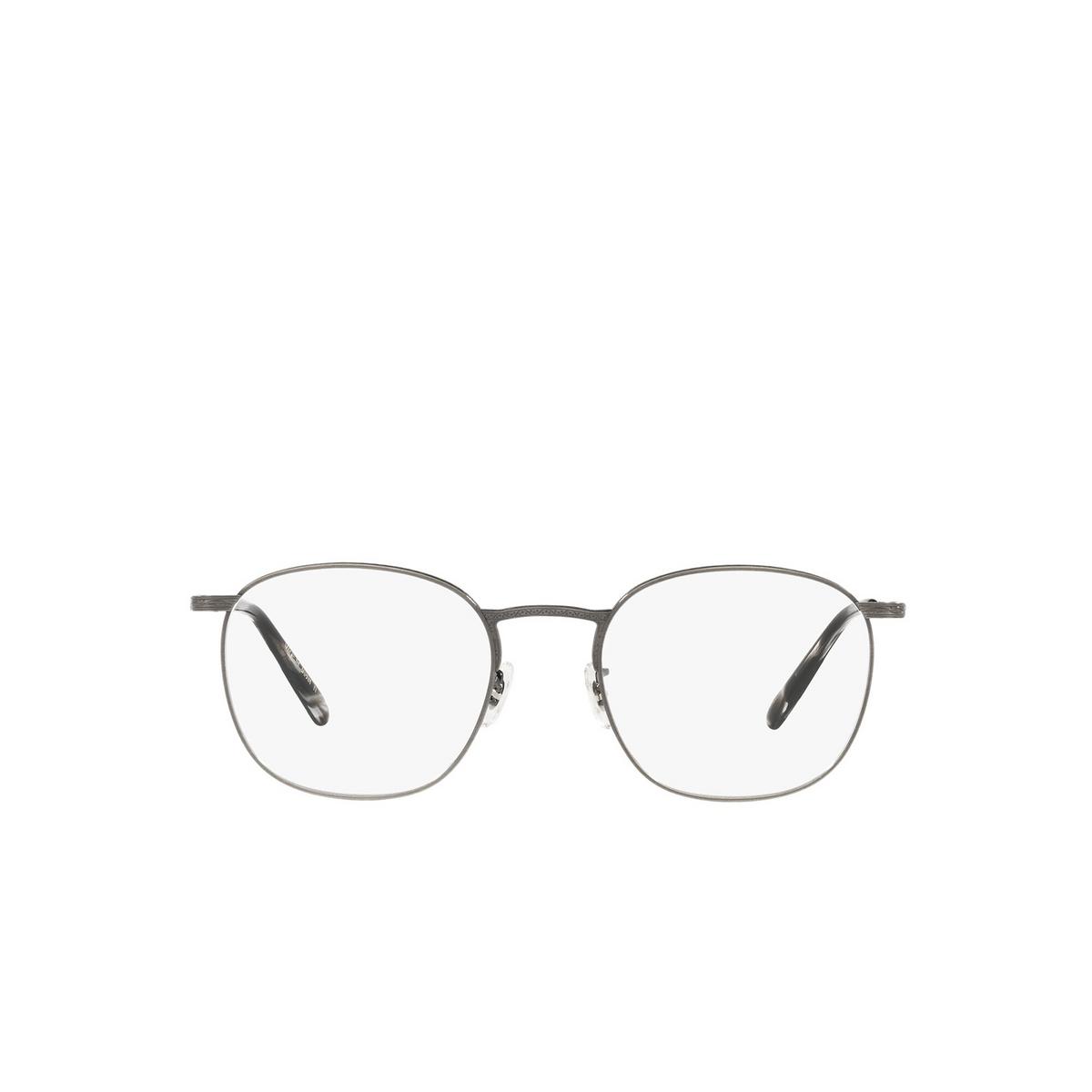 Oliver Peoples® Square Eyeglasses: Goldsen OV1285T color Antique Pewter 5289 - front view.