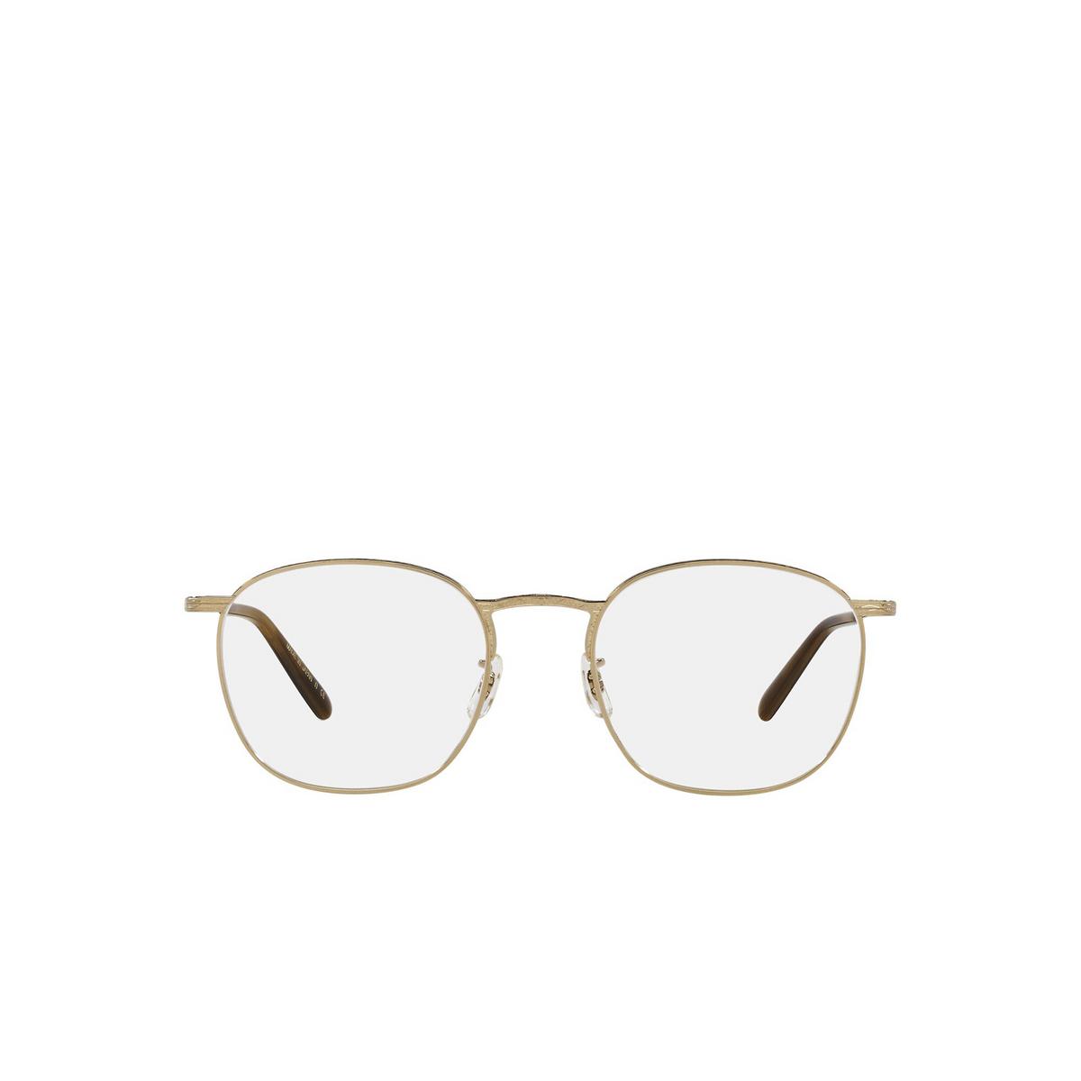 Oliver Peoples® Square Eyeglasses: Goldsen OV1285T color White Gold 5292 - front view.