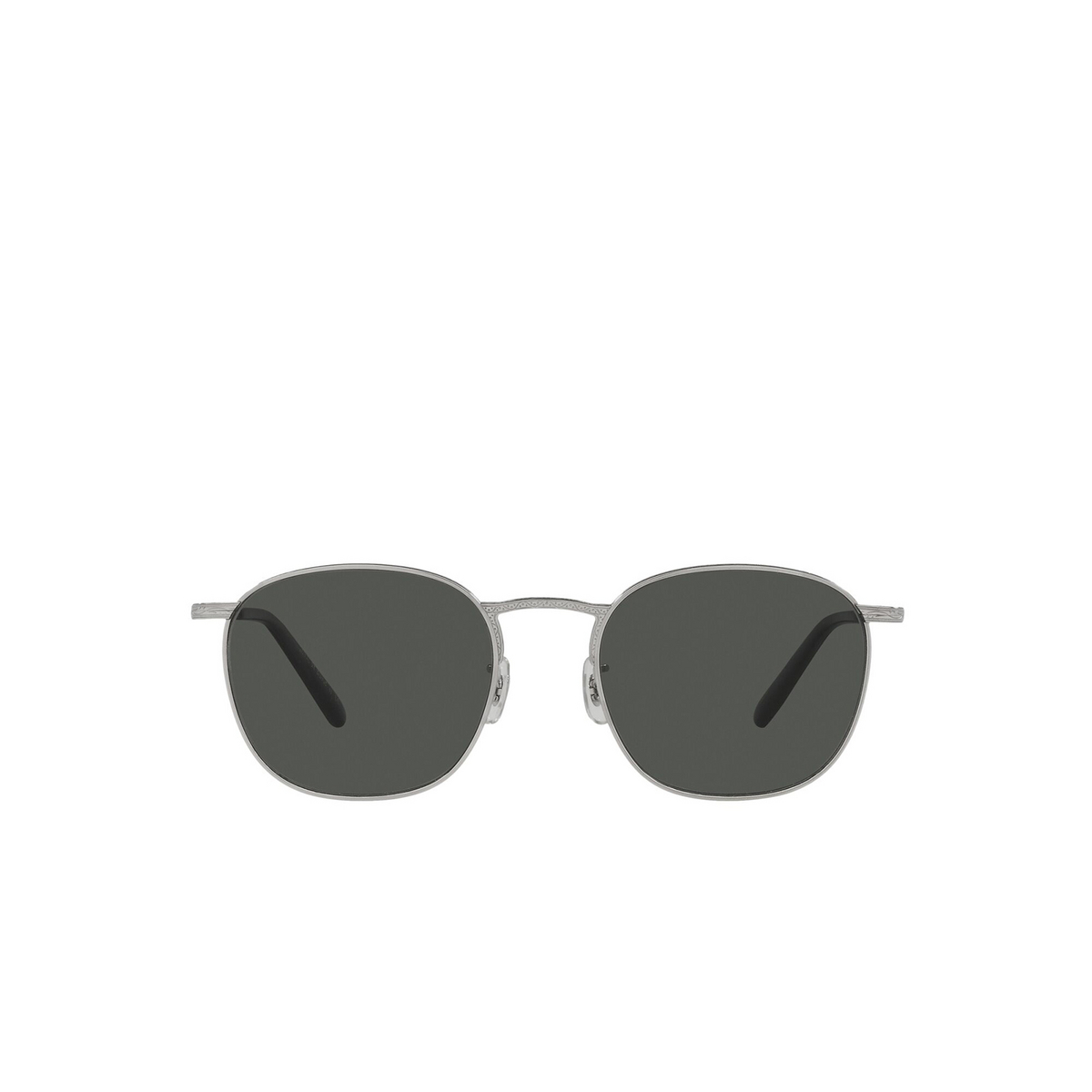 Oliver Peoples® Square Sunglasses: Goldsen Sun OV1285ST color Silver 5036P2 - front view.