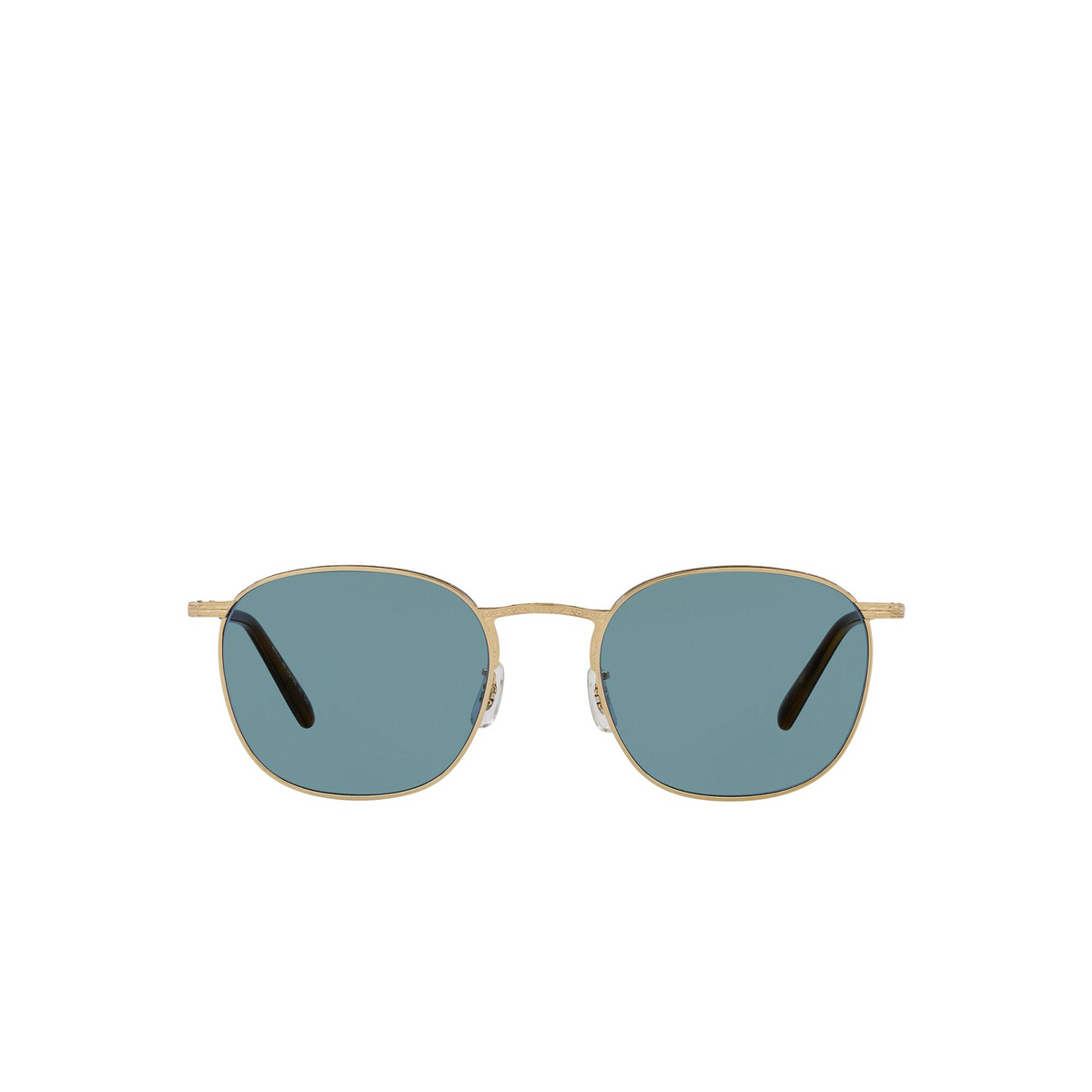 Oliver Peoples® Square Sunglasses: Goldsen Sun OV1285ST color Gold 529256 - front view.
