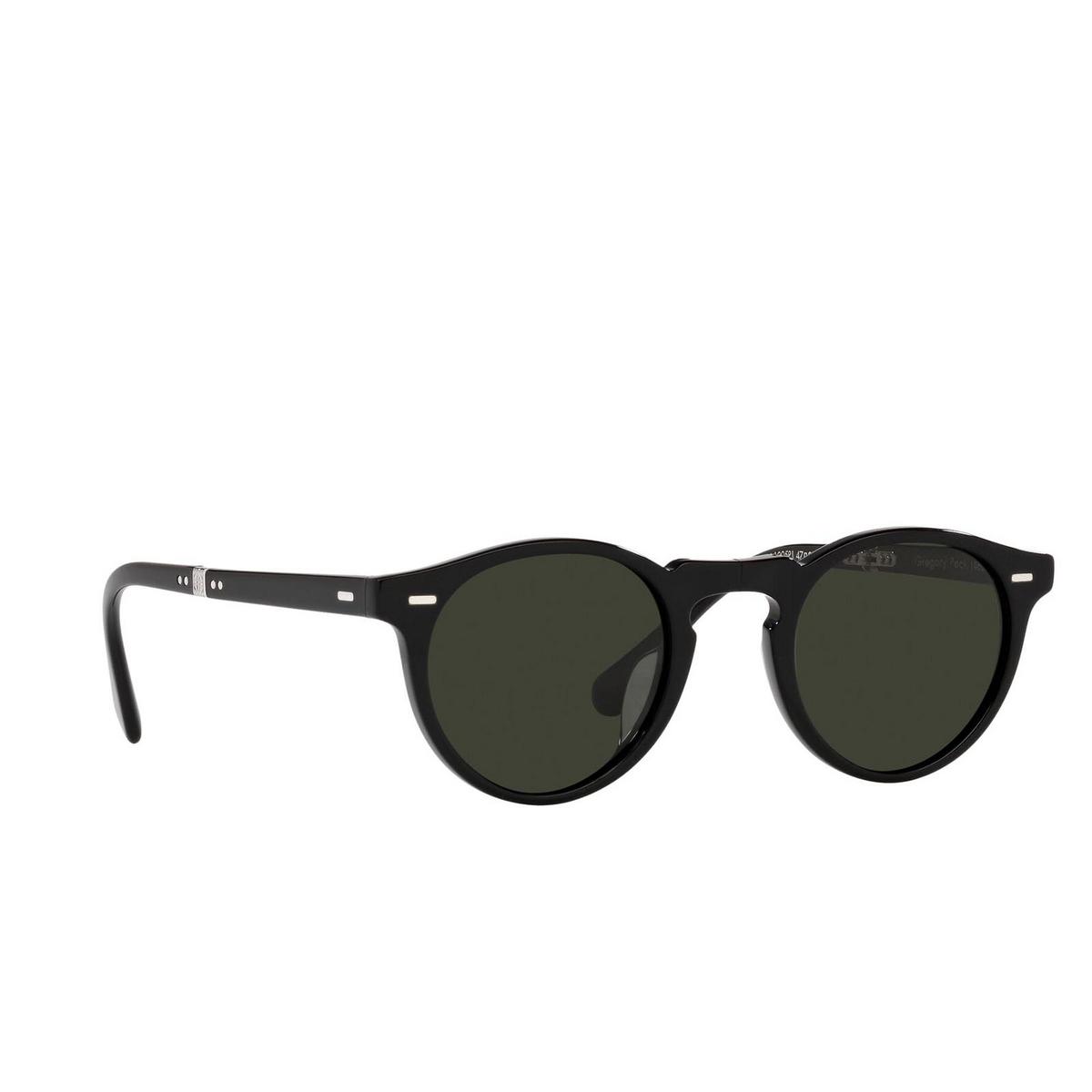 Oliver Peoples® Round Sunglasses: Gregory Peck 1962 OV5456SU color Black 1005P1.
