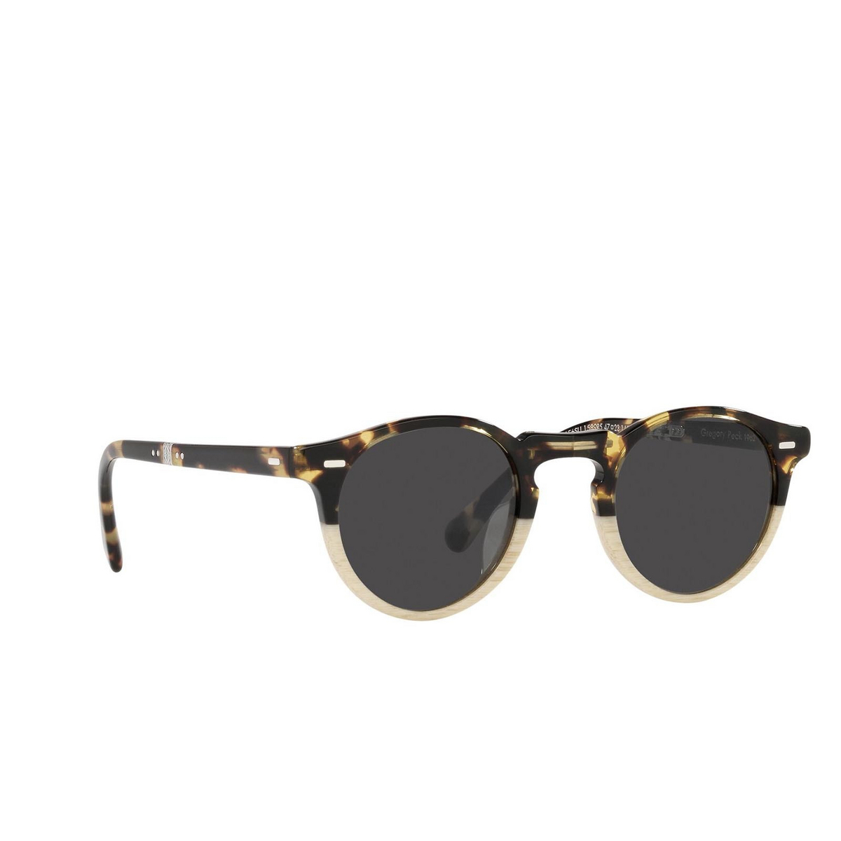 Oliver Peoples® Round Sunglasses: Gregory Peck 1962 OV5456SU color Dtb/beige Gradient 1589R5 - three-quarters view.