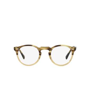 Oliver Peoples® Round Eyeglasses: Gregory Peck OV5186 color Canarywood Gradient 1703.