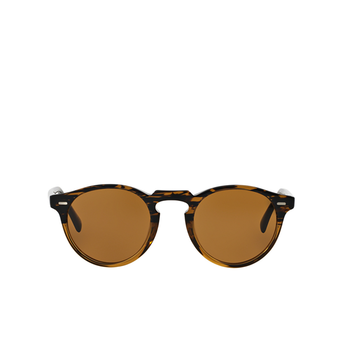 Oliver Peoples® Round Sunglasses: Gregory Peck Sun OV5217S color Tortoise (8108) 100153.