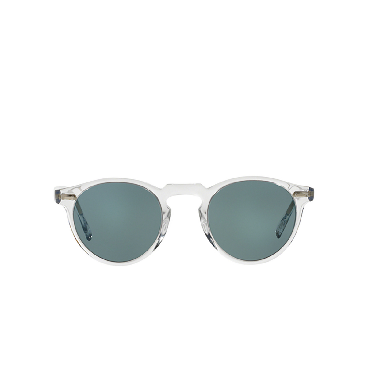 Oliver Peoples® Round Sunglasses: Gregory Peck Sun OV5217S color Crystal 1101R8 - front view.