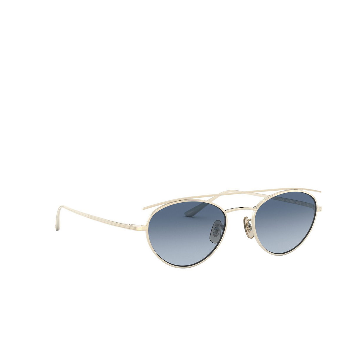 Oliver Peoples® Oval Sunglasses: Hightree OV1258ST color Gold 5035Q8 - three-quarters view.