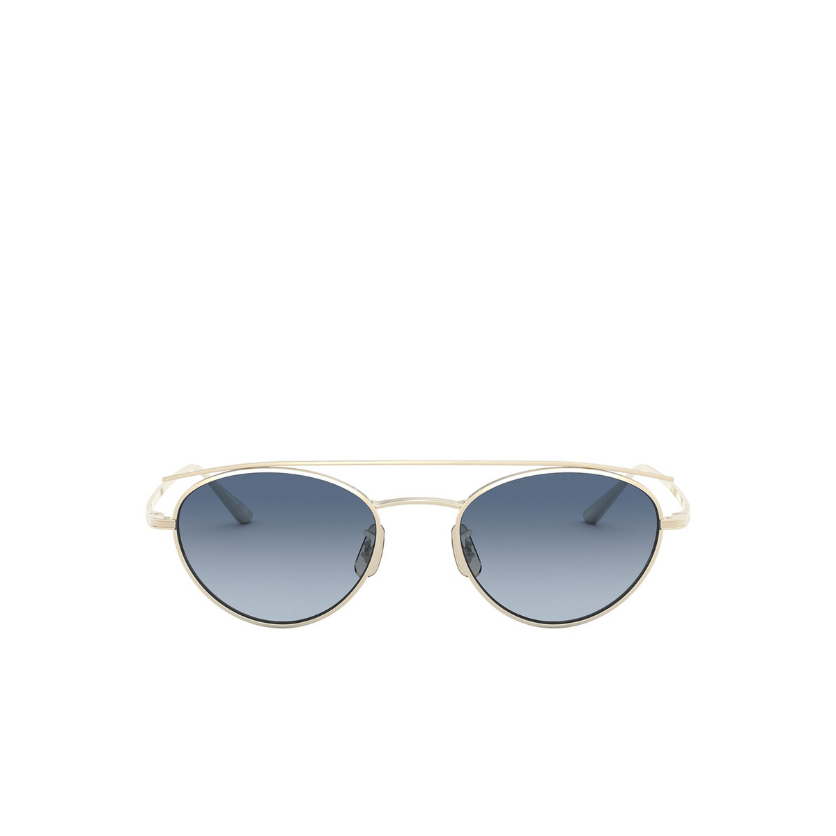 Oliver Peoples® Oval Sunglasses: Hightree OV1258ST color Gold 5035Q8 - front view.