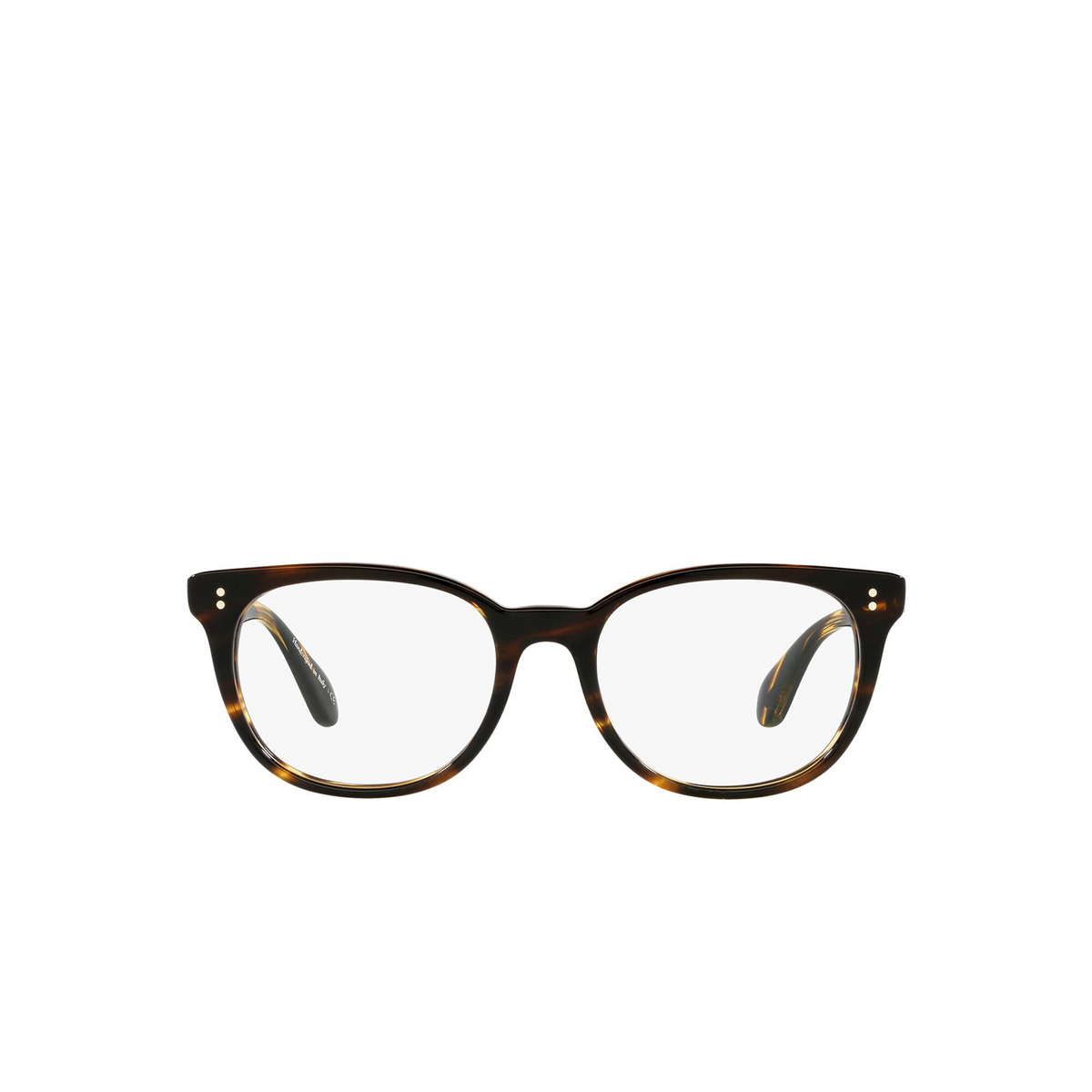 Oliver Peoples® Cat-eye Eyeglasses: Hildie OV5457U color Cocobolo 1003 - front view.