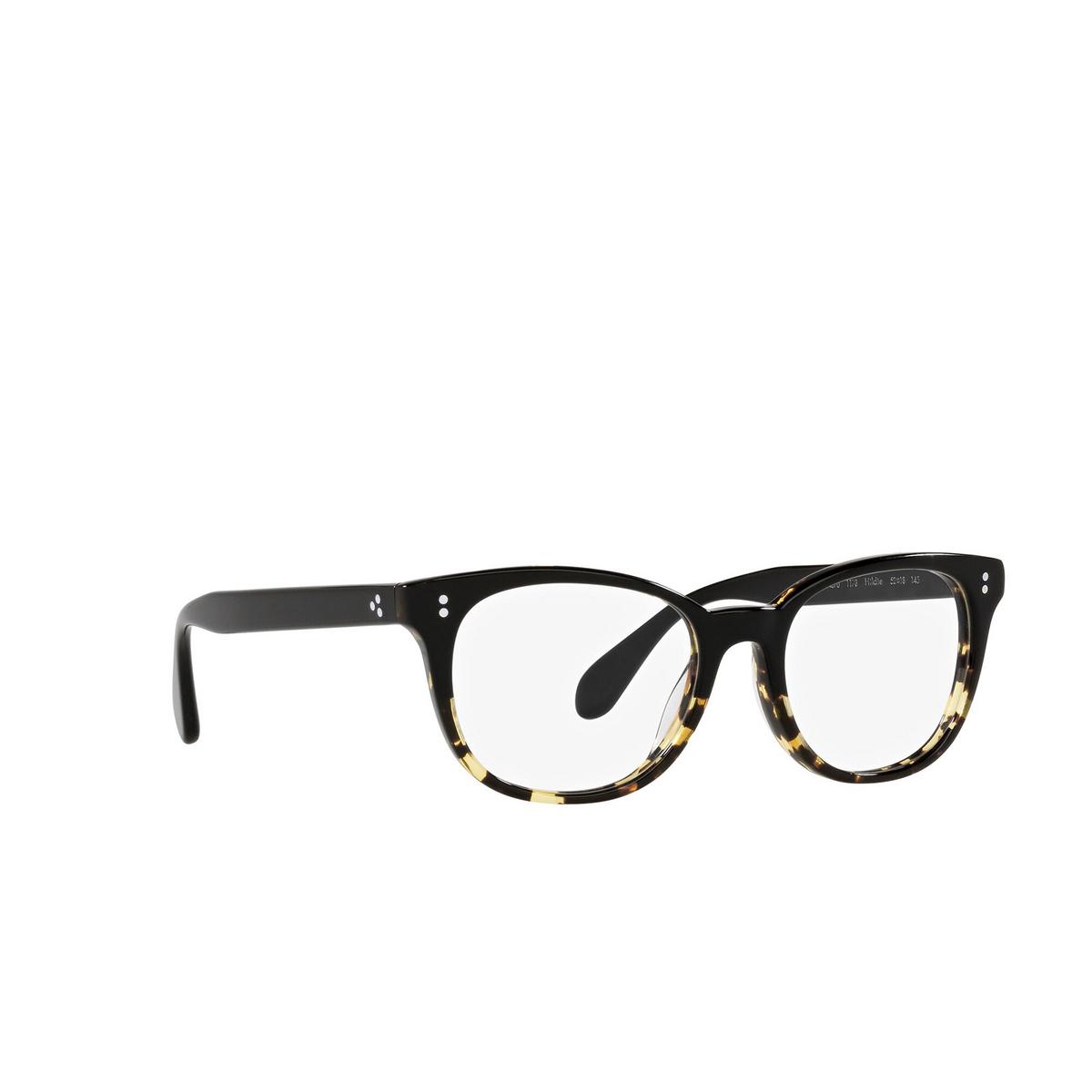 Oliver Peoples® Cat-eye Eyeglasses: Hildie OV5457U color Black / Dtbk Gradient 1178 - three-quarters view.