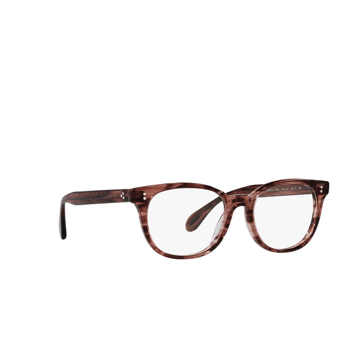 Oliver Peoples® Cat-eye Eyeglasses: Hildie OV5457U color Merlot Smoke 1690 - three-quarters view.