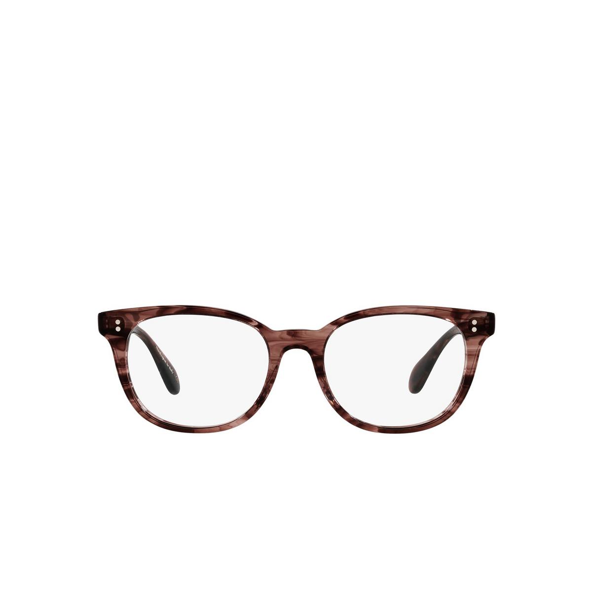 Oliver Peoples® Cat-eye Eyeglasses: Hildie OV5457U color Merlot Smoke 1690 - front view.