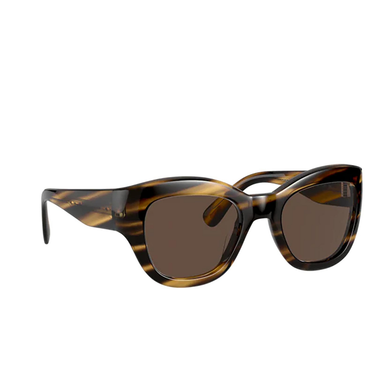 Oliver Peoples® Butterfly Sunglasses: Lalit OV5430SU color Cocobolo 100373 - three-quarters view.