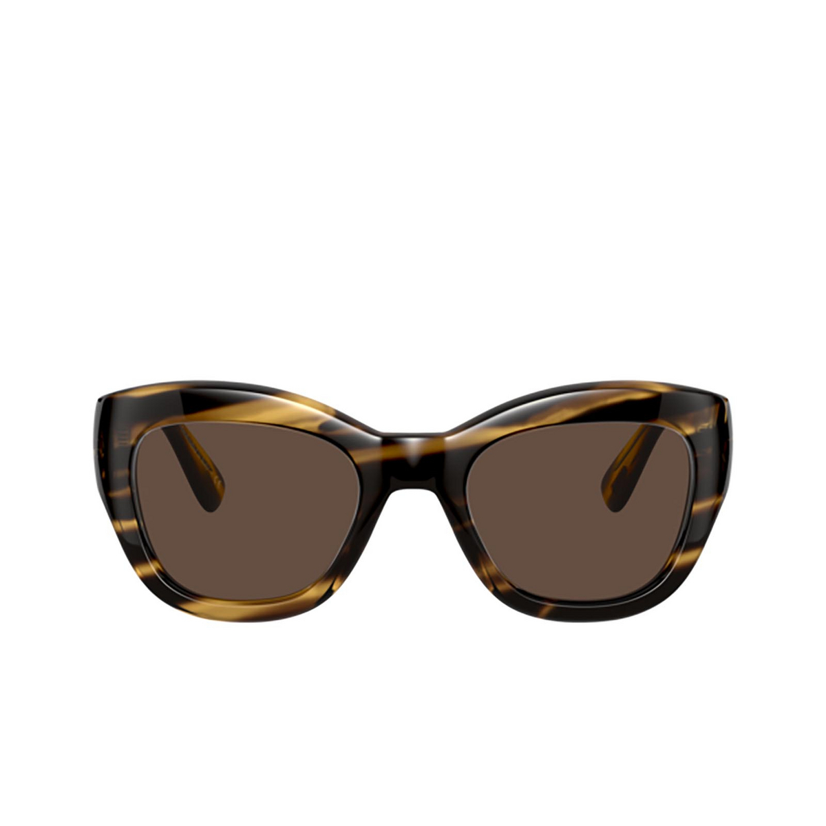 Oliver Peoples® Butterfly Sunglasses: Lalit OV5430SU color Cocobolo 100373 - front view.
