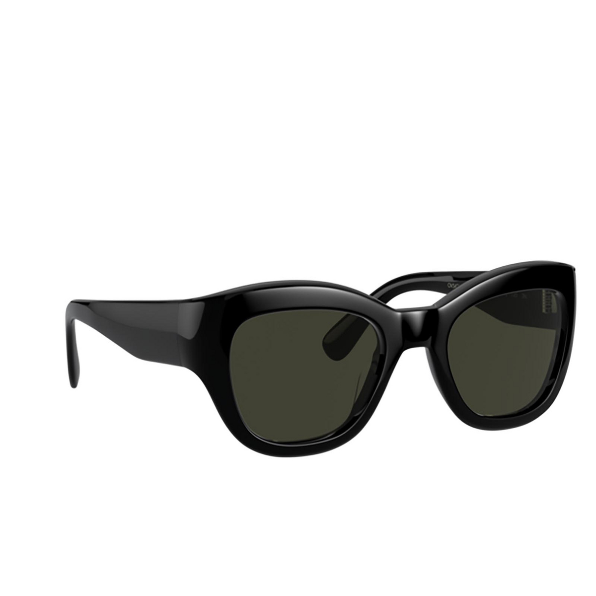 Oliver Peoples® Butterfly Sunglasses: Lalit OV5430SU color Black 100582 - three-quarters view.