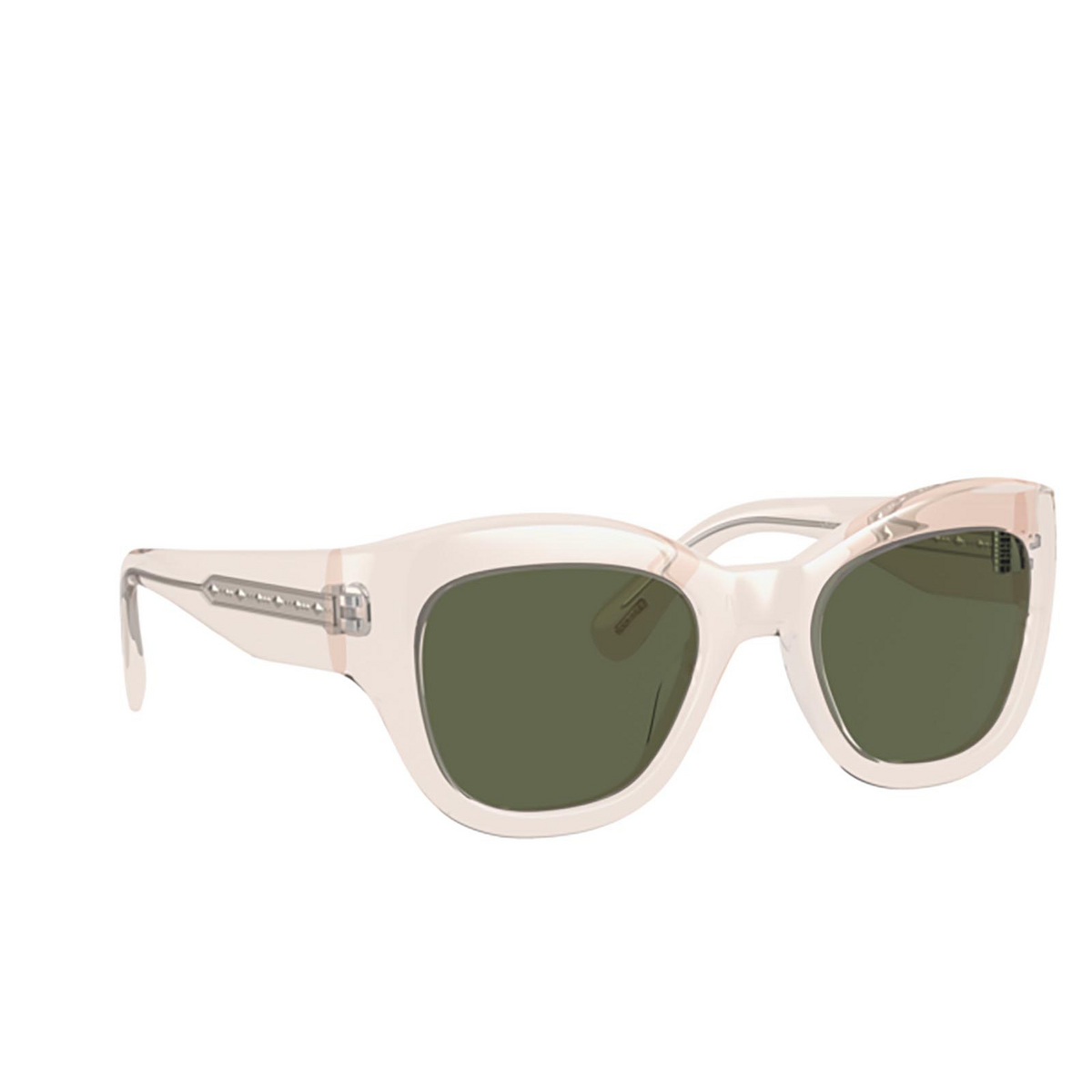 Oliver Peoples® Butterfly Sunglasses: Lalit OV5430SU color Buff 109471 - three-quarters view.