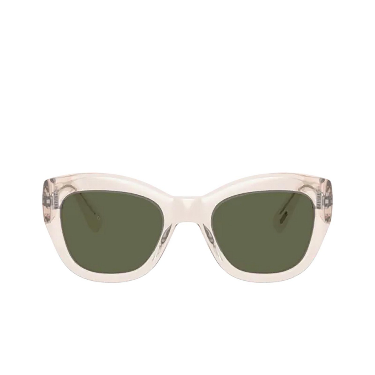 Oliver Peoples® Butterfly Sunglasses: Lalit OV5430SU color Buff 109471 - front view.