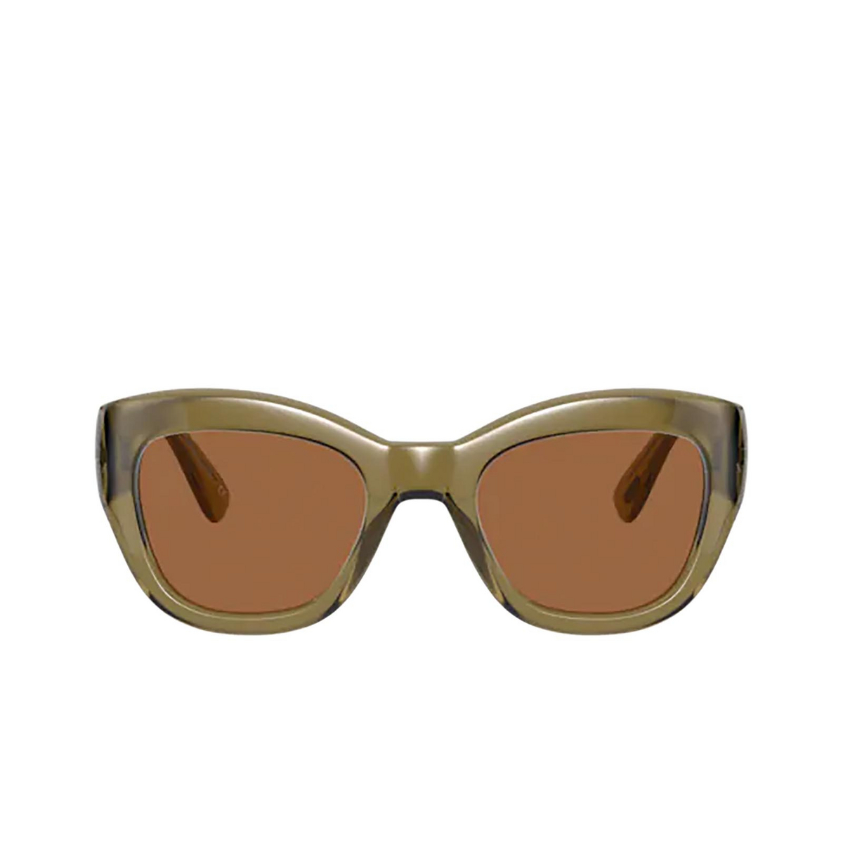 Oliver Peoples® Butterfly Sunglasses: Lalit OV5430SU color Dusty Olive 167873 - front view.