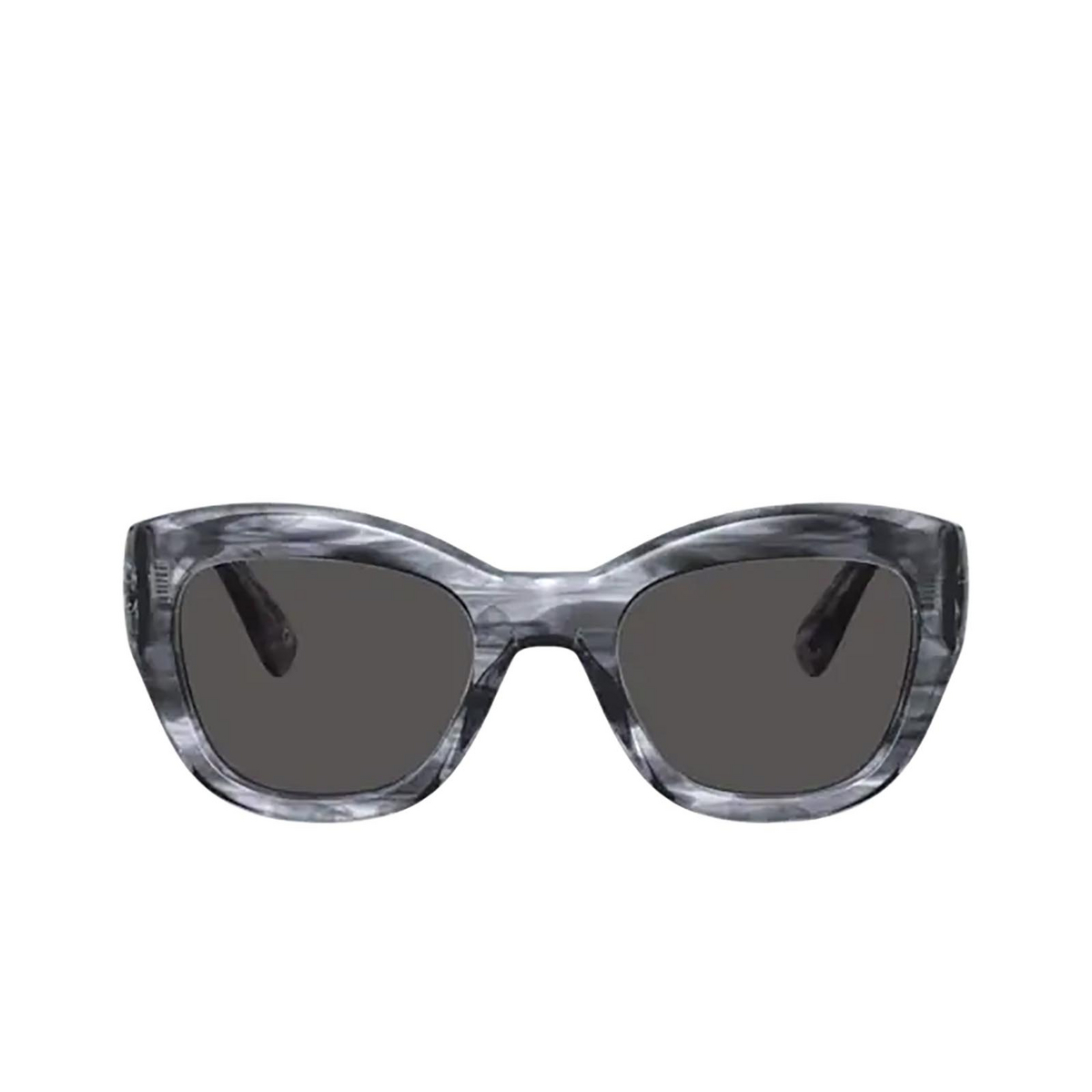 Oliver Peoples® Butterfly Sunglasses: Lalit OV5430SU color Navy Smoke 168887 - front view.