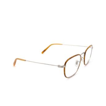 Oliver Peoples® Square Eyeglasses: Landis OV1249T color Amber / Silver 5036.