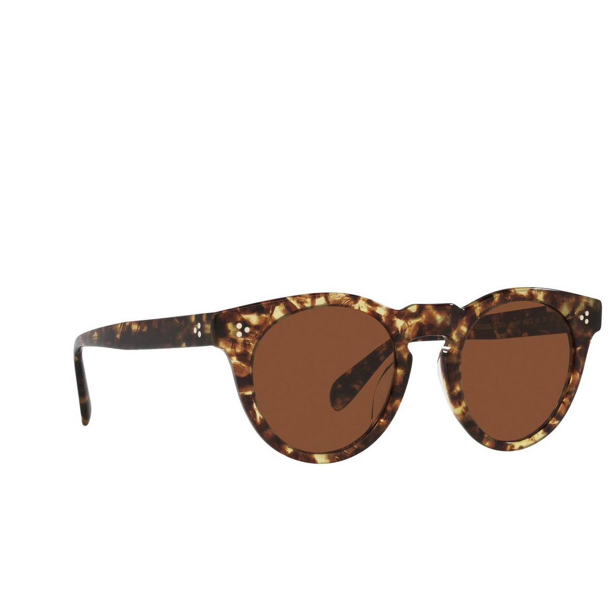 Oliver Peoples® Round Sunglasses: Lewen OV5453SU color 382 170073 - three-quarters view.