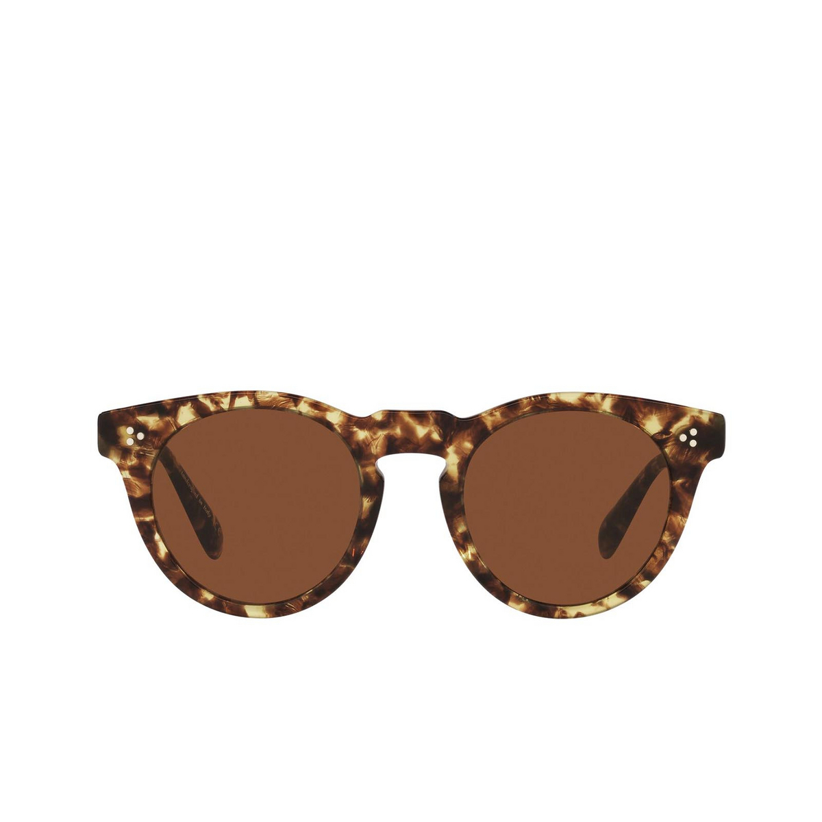 Oliver Peoples® Round Sunglasses: Lewen OV5453SU color 382 170073 - front view.