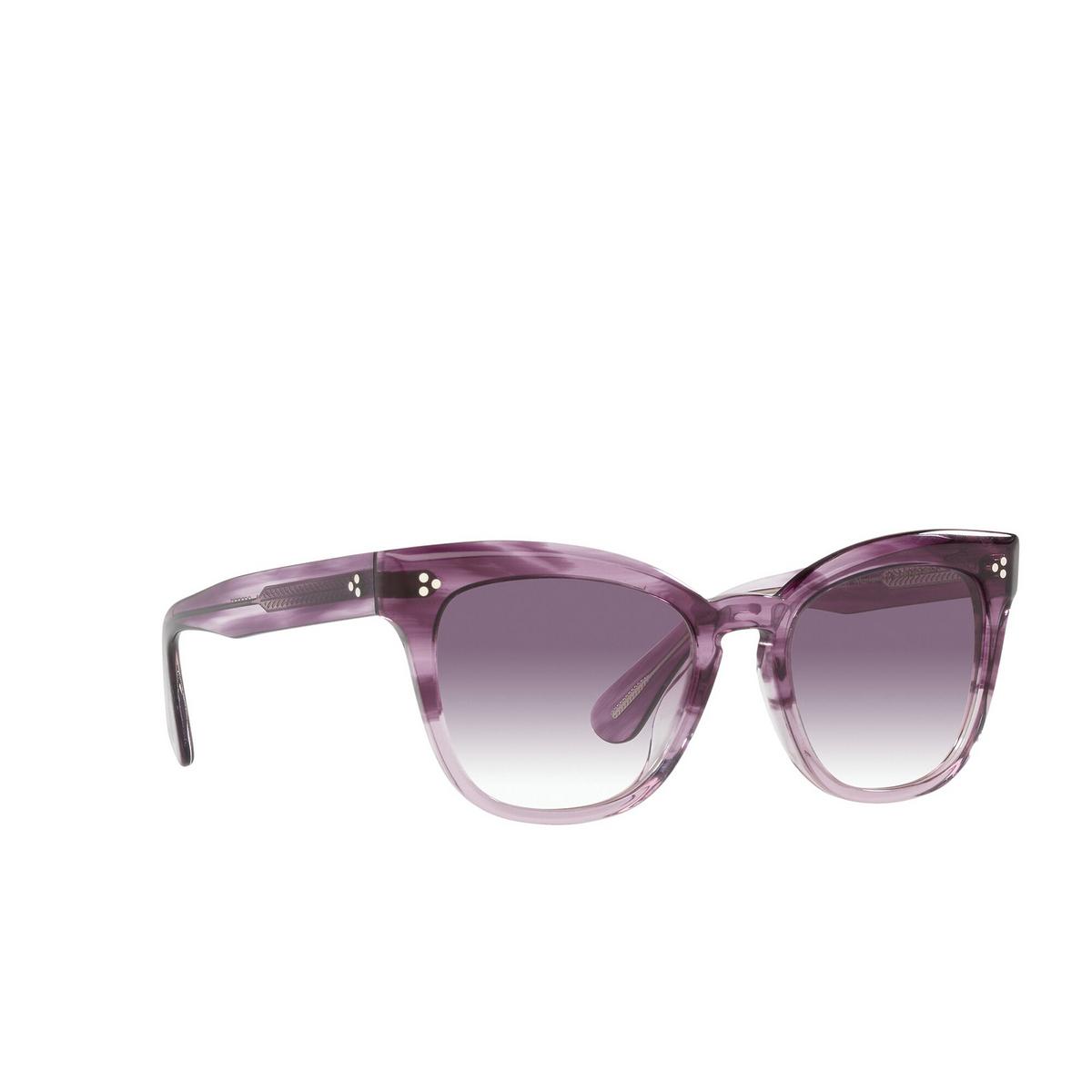 Oliver Peoples® Butterfly Sunglasses: Marianela OV5372SU color Jacaranda Gradient 16918H - three-quarters view.