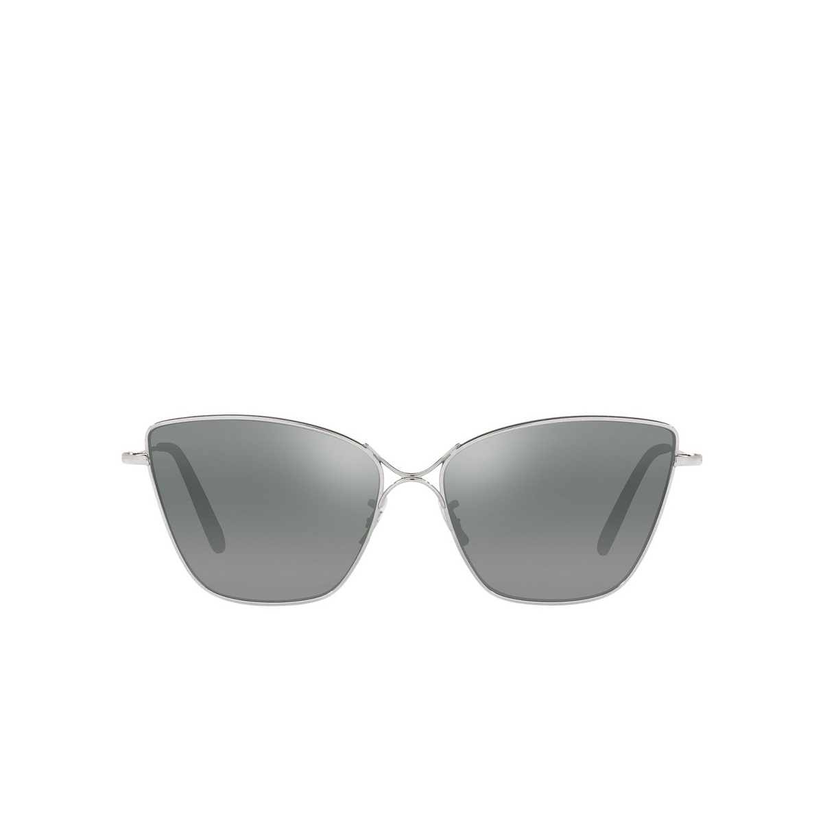 Oliver Peoples® Butterfly Sunglasses: Marlyse OV1288S color Silver 50366I - front view.