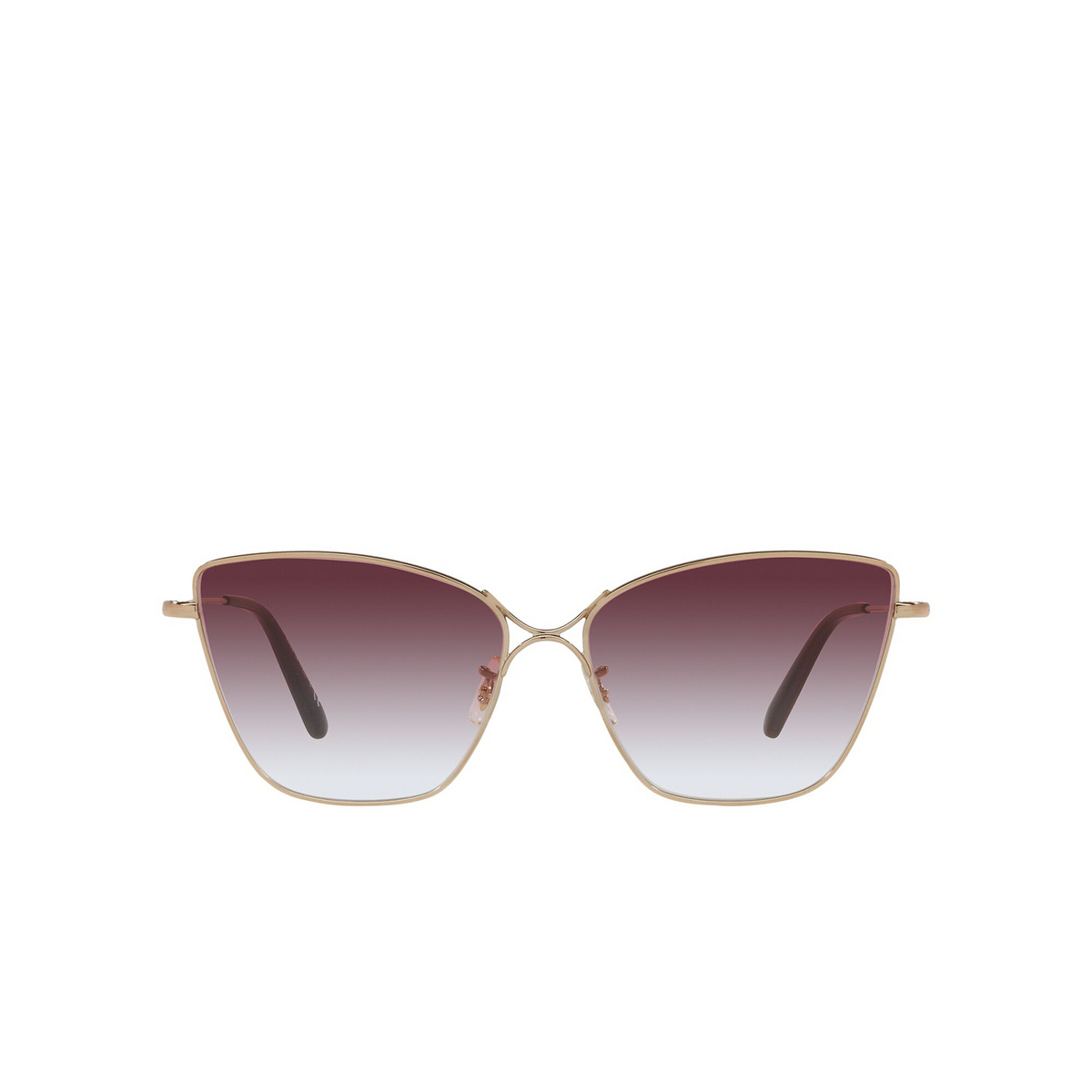 Oliver Peoples® Butterfly Sunglasses: Marlyse OV1288S color Rose Gold 50378H - front view.