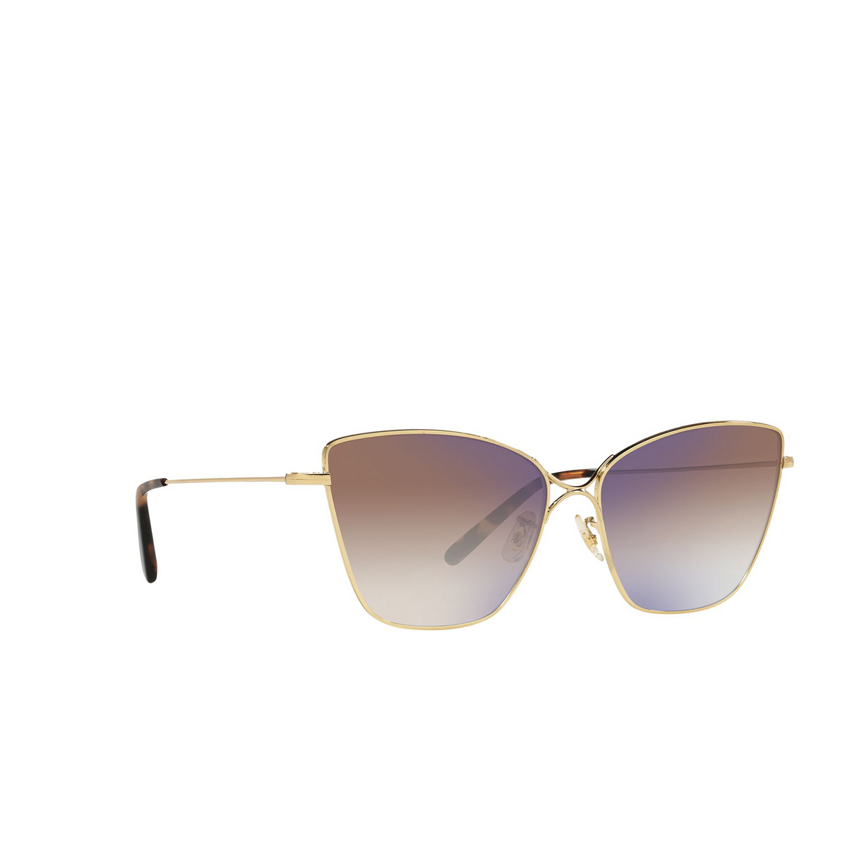 Oliver Peoples® Butterfly Sunglasses: Marlyse OV1288S color Gold 5145K3 - three-quarters view.