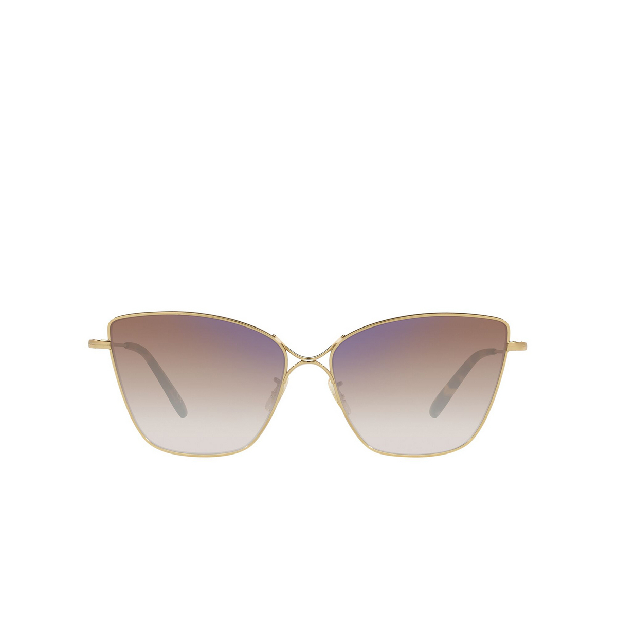 Oliver Peoples® Butterfly Sunglasses: Marlyse OV1288S color Gold 5145K3 - front view.
