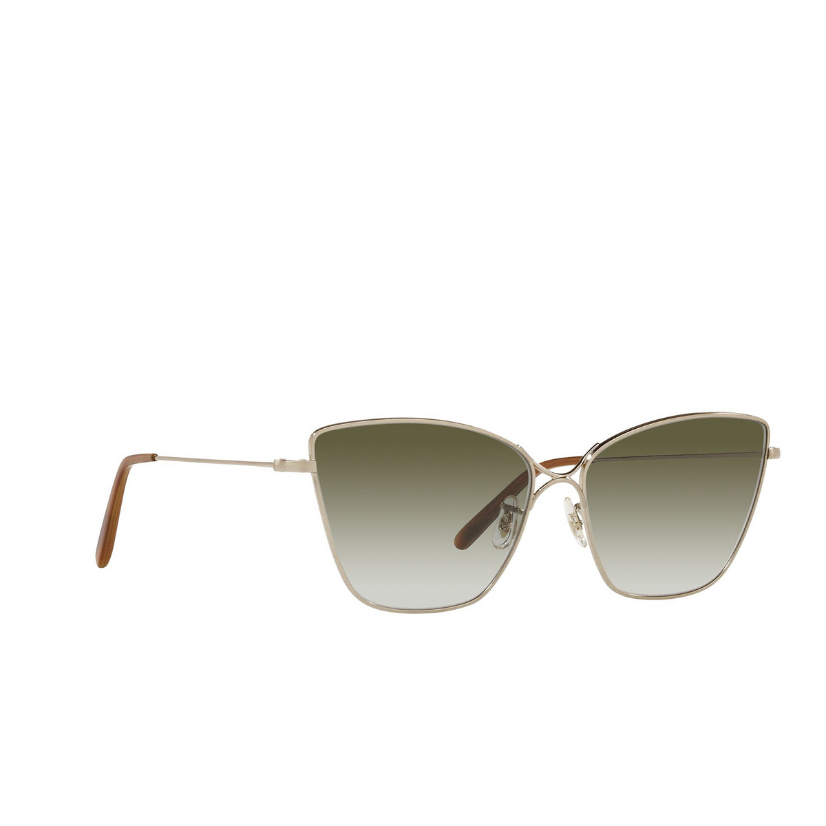 Oliver Peoples® Butterfly Sunglasses: Marlyse OV1288S color Brushed Gold 52718E - three-quarters view.
