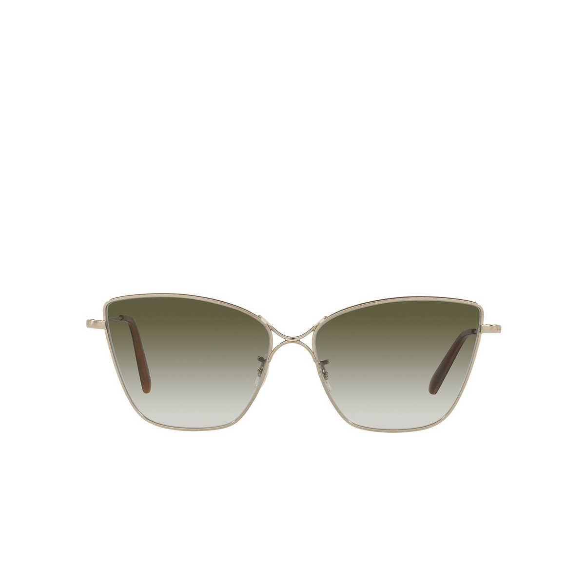 Oliver Peoples® Butterfly Sunglasses: Marlyse OV1288S color Brushed Gold 52718E - front view.