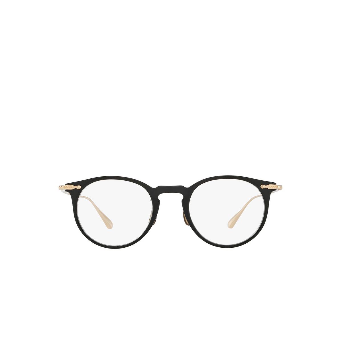 Oliver Peoples® Round Eyeglasses: Marret OV5343D color Black 1005 - front view.