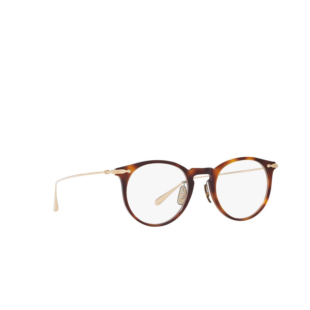 Oliver Peoples® Round Eyeglasses: Marret OV5343D color Tortoise 1007 - three-quarters view.